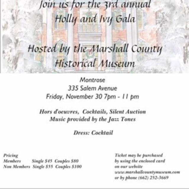 Marshall couny historical museum gala