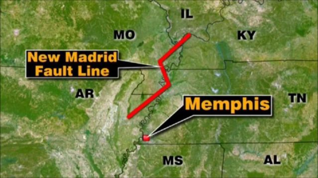 New Madrid Fault Line
