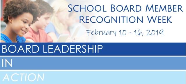 2019 School Board Member Recognition Week