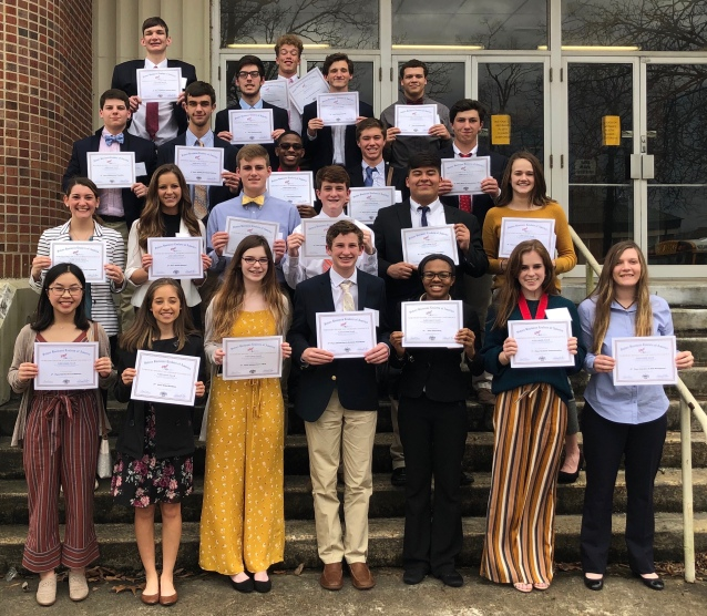FBLA District Winners February 2019