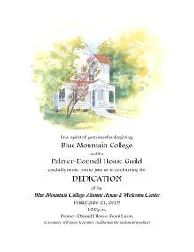 blue mt dedication