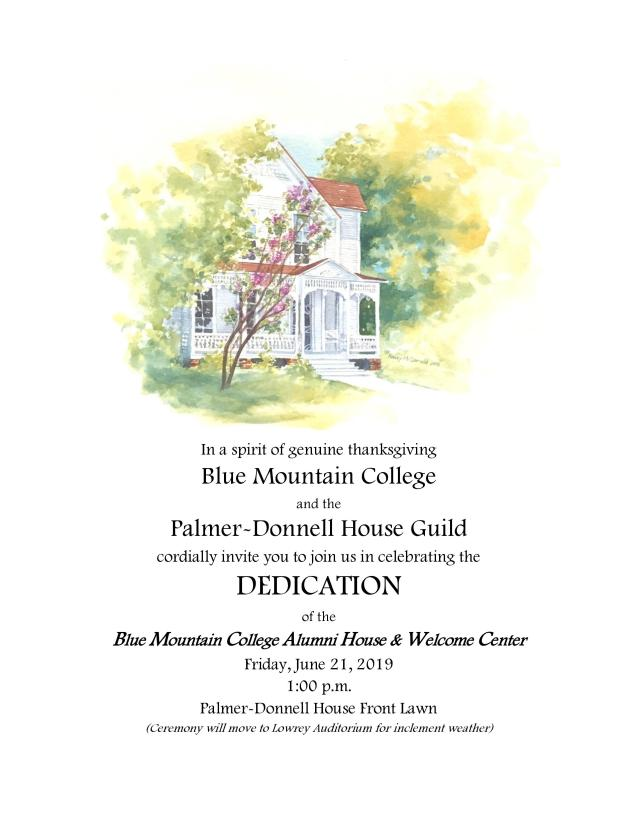 blue mt dedication